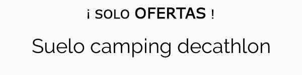 Benimeli Suelo Camping 130 gr 5x6 m.